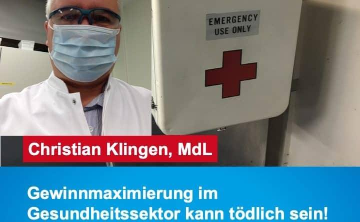 Gewinnmaximierung im Gesundheitssektor kann tödlich sein!