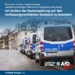 Polizisten müssen möglicherweise verfassungswidriges Infektionsschutzgesetz exekutieren