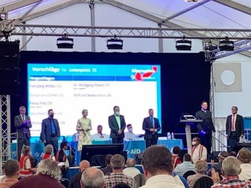 AfD Bayern Aufstellungsversammlung in Greding an Fronleichnam