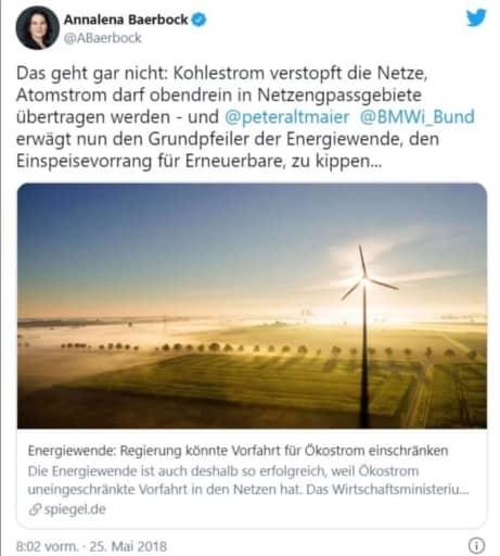 Screenshot Twitter Account von Anna-Lena Baerbock