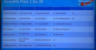 AfD Bayern Listenaufstellung zur Bundestagswahl in Greding