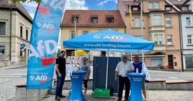 Mobiles Bürgerbüro der AfD Fraktion im Bayerischen Landtag in Kitzingen und Iphofen