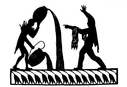 "Luise Duttenhofer: Illustration zuGoethesGedicht ""de:Der Zauberlehrling"" - Luise Duttenhofer (1776-1829), Public domain, via Wikimedia Commons"