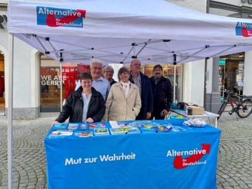 Infostand am 24.09.2021 zum Wahlkampfendspurt in Kitzingen