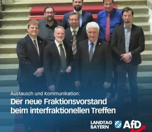 Neuer Fraktionsvorstand tauscht sich über die parlamentarische Arbeit mit der AfD-Landesgruppe im BT, der AfD Delegation im Europ. Parlament und der Fraktion der AfD im Bay. Bezirketag aus