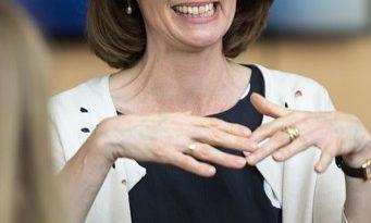 Katarina Barleyauf dem SPD-Bundesparteitag 2018 inWiesbaden - Martin Kraft, CC BY-SA 3.0 https://creativecommons.org/licenses/by-sa/3.0, via Wikimedia Commons